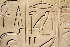 Immagini e hieroglyphics antichi dell'egitto Fotografia Stock Libera da Diritti
