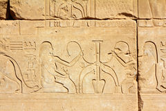 Immagini e hieroglyphics antichi dell'egitto Immagine Stock Libera da Diritti