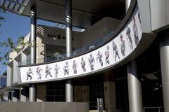 Immagini famose dei giocatori dei cowboy di Dallas sulla parete Fotografie Stock