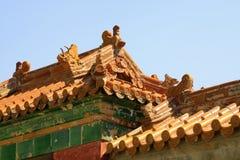 Immagini il tetto di mattonelle lustrato nelle tombe reali orientali di Qing Dy Immagine Stock