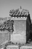 Immagini il tetto di mattonelle lustrato nelle tombe reali orientali di Qing Dy Fotografia Stock Libera da Diritti