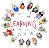 Immagini l'icona Conept di istruzione di libertà dei bambini Immagini Stock