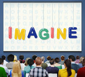 Immagini le idee creative pensare il concetto di sogno della visione immagini stock libere da diritti