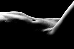 Immagini nude di Bodyscape di una donna Fotografia Stock