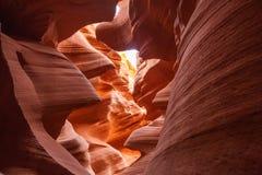 Immagini reali del canyon più basso dell'antilope in Arizona, U.S.A. Fotografie Stock Libere da Diritti
