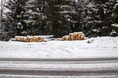 Immagini romantiche di inverno fotografie stock