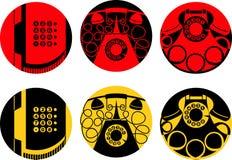 Immagini stilizzate dell'apparecchio telefonico illustrazione di stock