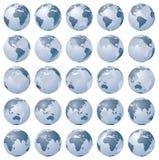 Immagini stilizzate delle fasi differenti di rotazione di globo Immagine Stock Libera da Diritti