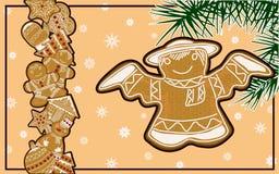Immagini su un tema di Natale, su un manifesto festivo Immagini Stock