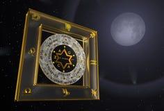 Immagini tridimensionali della stella di David Fotografia Stock Libera da Diritti