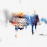 Immagini vaghe di colore della gente che cammina nella città per uso del fondo, spazio della copia Fotografia Stock