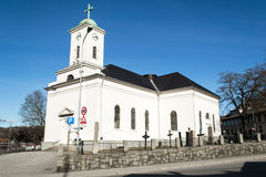 Immanuel church of Halden. This is the church Immanuels in Halden Stock Photos