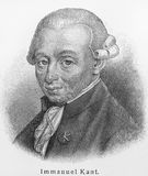 Immanuel Kant stock photo