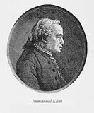 Immanuel Kant, engraving portrait Stock Image