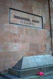 Immanuel Kant grav i Kaliningrad, Ryssland arkivfoton
