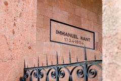 Immanuel Kant, tomb Stock Photo