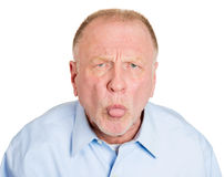 Immature older man Royalty Free Stock Images