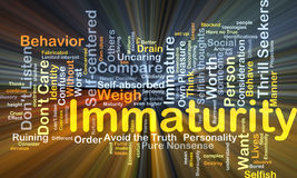 Immaturity background concept glowing Stock Image