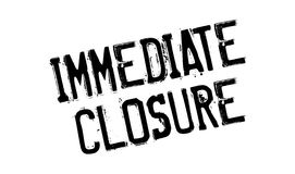 Immediate Closure rubber stamp Royalty Free Stock Photography