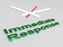 Immediate Response concept Royalty Free Stock Images