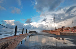 Immediately After the Storm. At Jaffa seashore after the storm Royalty Free Stock Photos