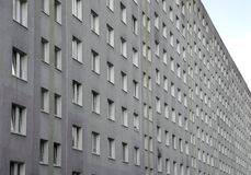 Immense building with many apartments in the periphery of an Eur Stock Image