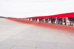 Immense Flag of Poland Seen from Underneath Royalty Free Stock Images