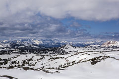 Winter in high mountain country Royalty Free Stock Photos