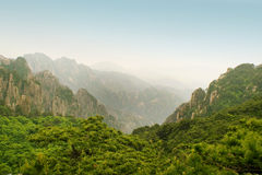 Immense view from the top of huangshan mountain Stock Images