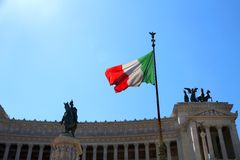 Immense white monument  called Vittoriano 2 Royalty Free Stock Photography