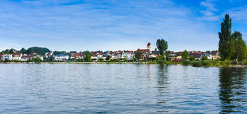 Immenstaad - Lake Constance, Baden-Wuerttemberg, Germany, Europe. View of the village Immenstaad at Lake Constance - Immenstaad, Lake Constance, Baden Royalty Free Stock Photos