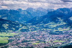 Immenstadt, Germany - City and Mountains Royalty Free Stock Images
