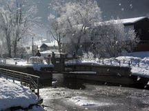 Immenstadt no inverno imagens de stock royalty free