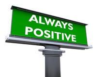 Immer positiv stock abbildung