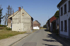 Immerath - pueblo del fantasma cerca de la explotación minera a cielo abierto Garzweiler Fotografía de archivo libre de regalías