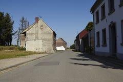 Immerath - spökeby nära dagbrotts- bryta Garzweiler arkivfoto