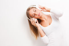 Immersed in music. Royalty Free Stock Image