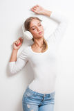 Immersed in music. Royalty Free Stock Photos