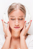 Immersed in music. Royalty Free Stock Images