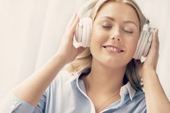 Immersed into music Royalty Free Stock Image