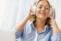 Immersed into music Royalty Free Stock Photography