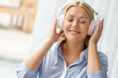 Immersed into music Stock Image