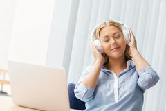 Immersed into music Stock Photos