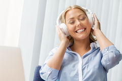 Immersed into music Royalty Free Stock Photo