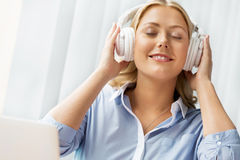 Immersed into music Stock Photography
