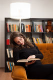 Immersed in reading. Royalty Free Stock Photo