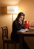Immersed in reading. Stock Images