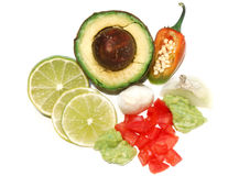 Immersion de guacamole Photo stock
