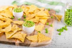 Immersion de pois de puces de tortilla photos libres de droits