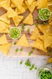Immersion de pois de puces de tortilla photographie stock